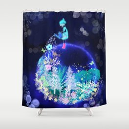 Grow a happy life Shower Curtain