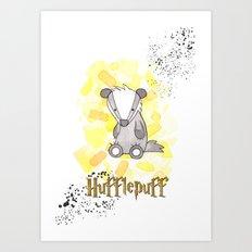 Hufflepuff - H a r r y P o t t e r inspired Art Print