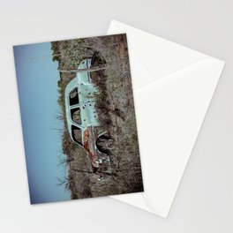 Abandoned Classic Car along old Route 66 in Bard New Mexico Stationery Cards