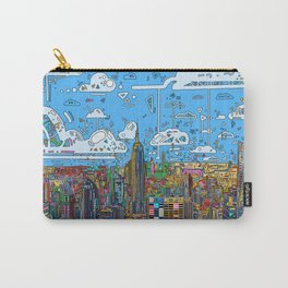 new york city skyline colorful Carry-All Pouch