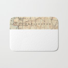 Vintage Burlington Vermont Topographic Map (1904) Bath Mat