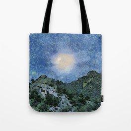 Starry Night Sunrise Tote Bag