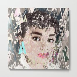 Audrey Type Abstract Art Metal Print