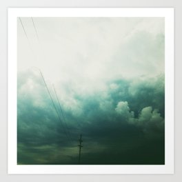 Storm's a Brewin' Art Print