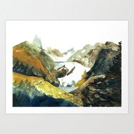 mountain land Art Print