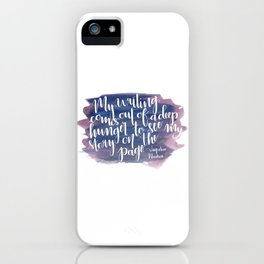 Story on the Page iPhone Case