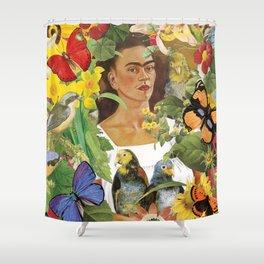 Frida Kahlo Collage Shower Curtain