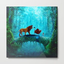 King Of Jungle Metal Print