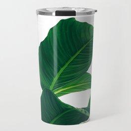 Green Leafs (Color) Travel Mug