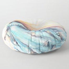 """Imperial Waves"" Watercolour Surrealism Pressure Floor Pillow"