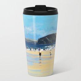 Harlyn Bay, Cornwall, Original Illustration  Travel Mug