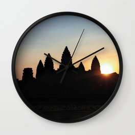 Sunrise at Angkor Wat Wall Clock