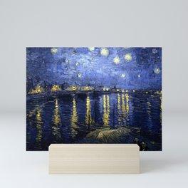 "Vincent Van Gogh ""Starry Night Over the Rhone"" Mini Art Print"