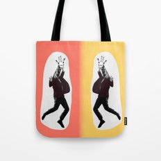Giraffe in a Suit by Debbie Porter Tote Bag