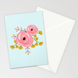 Loose Pink Boho Floral Pattern Stationery Cards