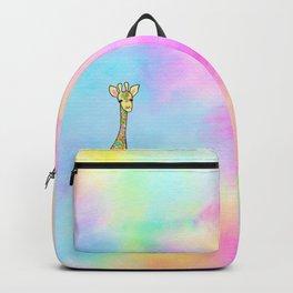 Giraffe in the Rainbow Backpack
