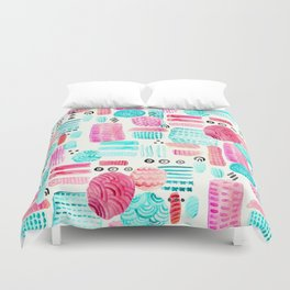 Dots, Circles and Dashes Duvet Cover