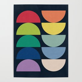 Abstract Flower Palettes Poster