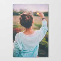 tumblr Canvas Prints featuring Tumblr by Amanda Lily