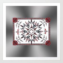 Mando'ade Darasuum (gradient background) Art Print