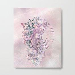 Koi Fish Mandala Metal Print