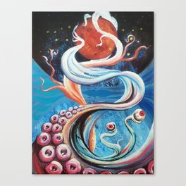 Spacey Suction Canvas Print