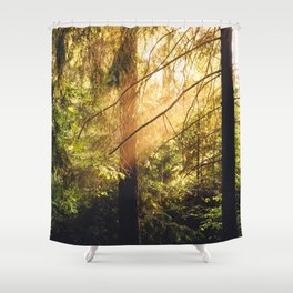 Forest Trees Nature Shower Curtain