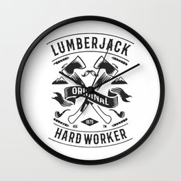 lumberjack hardworker Wall Clock