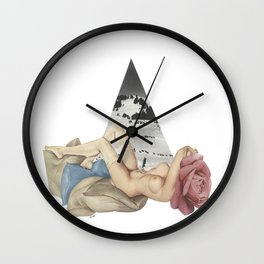 """""""Pry It Open With Your Love. Sending Lost and Alone Standing Offers."""" by Winn Smith Wall Clock"""