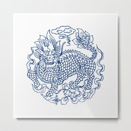 Chinese Kylin Metal Print