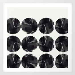 minimal brush stroke geometrical pattern Art Print