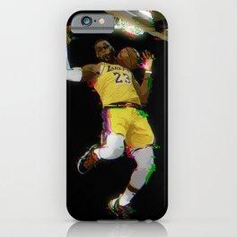 Glitch Lebron iPhone Case