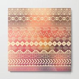 Aztec pattern 01 Metal Print
