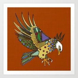 jewel eagle rust Art Print