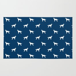 Irish Setter dog silhouette minimal dog breed pattern gifts for dog lover Rug
