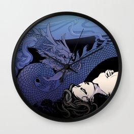 Dragon Under Moonlight Wall Clock