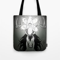 guardians Tote Bags featuring Guardians by Tessa Storm