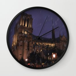 Cathedral Notre-Dame Wall Clock
