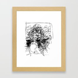 Face The Man On The Bus Framed Art Print