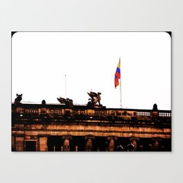 Plaza Of Bolivar, Colombia. Canvas Print
