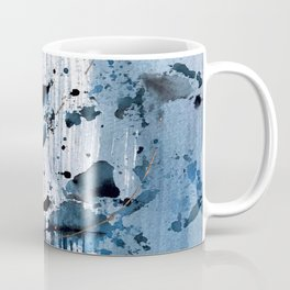 Breathe [6]: colorful abstract in black, blue, purple, gold and white Coffee Mug