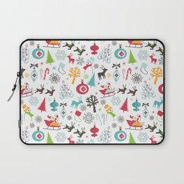 Retro Santa Holiday Christmas Pattern Laptop Sleeve