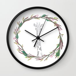 Giraffin' me crazy Wall Clock