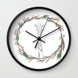 Giraffin' me crazy Wall Clock