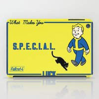 fallout iPad Cases featuring Luck S.P.E.C.I.A.L. Fallout 4 by sgrunfo