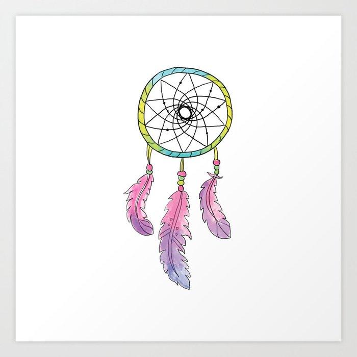 Tribal Dream Catcher Art Print