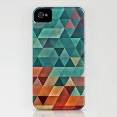 Teal/Orange Triangles Slim Case iPhone (4, 4s)