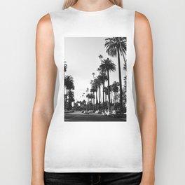 Los Angeles Black and White Biker Tank
