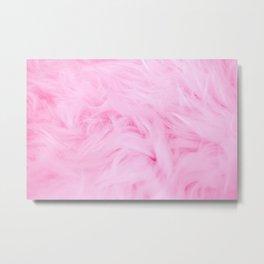 Pink Furry Wallpaper Metal Print