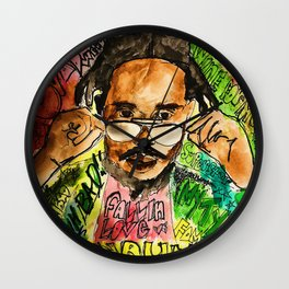 poppy,dancehall,reggae,music,lyrics,poster,jamaica,unruly,wall art Wall Clock
